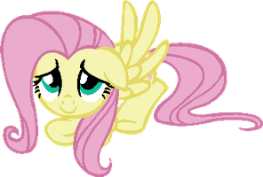 Fluttershy MS paint by Laser-Pancakes