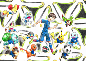 Japan's official mascots for 2014 FIFA World Cup by Smimon