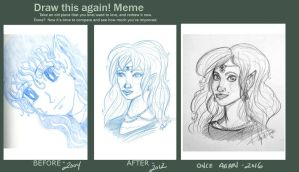 Draw this again meme - Elf sketch by aprilmdesigns