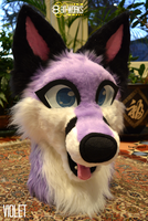Violet's head -commission- by TrelDaWolf