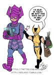 Galactus and Wolverine go to the Mall by neilak20