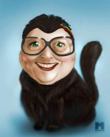 Caricature cat lady by dragonmjos