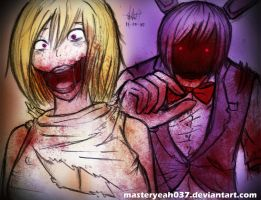 Chica and Bonnie-Five Nights at Freddy's 2 by Masteryeah037