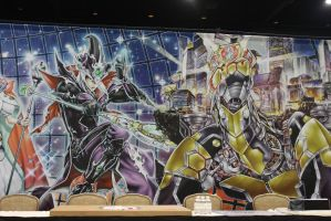 Right side of the GIANT World Championship Banner by Pharaohmones