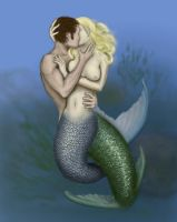 mermaid and merman by malinghi