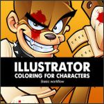 Illustrator tutorial, coloring for characters by SOSFactory