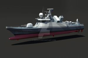 WIP concept Fast attack Craft (FAC) missile boat by edfeg71