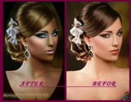 Befor and after dolly by RubyRosy