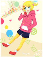 Kagamine Rin - too cute by Hannun