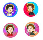 Supernatural Chibi Buttons by Jasmine-Flower