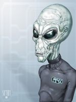 Grey Alien by SimonPrime