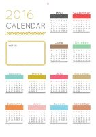 2016 Calendar by RonTazVIC