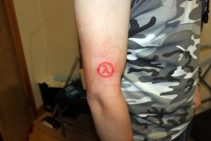 Half- life tattoo by SketchyFaceStuff
