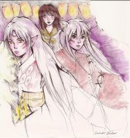 inuyasha trio by phage1109
