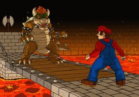 Mario Vs. Bowser by DLTabor