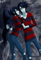 Marceline and Marshall - Adventure Time by Nanaruko