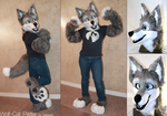 Wolf-Cat Partial by Tsebresos
