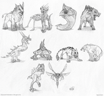 Gothic beasts sketch by gonedreamer
