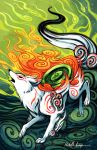 AN Signed work, Okami by michellescribbles