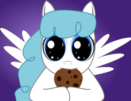 Lightning Bolt Enjoying a Cookie by wlyteth