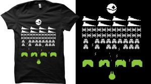 Star Invaders QWERTEE by mattcantdraw