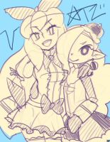 valerie and pearl by woofycakes