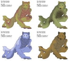 Contest Winners-Werewolf Characters by CameronFedora