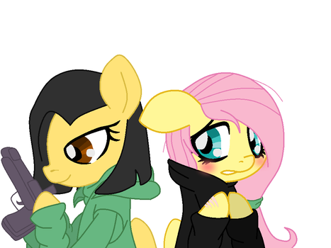 Zoe and fluttershy by BlackRaven101