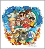 Studio Ghibli Tattoo Design by helloheath