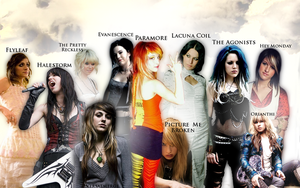 Chicks of Rock-Metal Wallpaper by Ryanx2