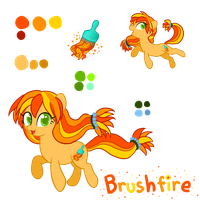 Brushfire reference sheet by SorbetBerry