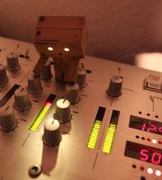 danbo on mixer console by BehrSebastian