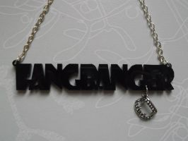 Fang Banger Black Laser Cut Necklace by frogmellaink