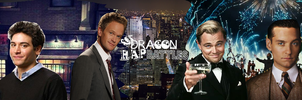 Jay Gatsby VS Barney Stinson by dragonsblood23