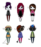 Adoptables #6 ~ [CLOSED] by HaileyWailey