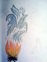 Out of the Fire... WIP by XcubX