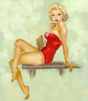 Marilyn Book Porn Colored by BenTanArt