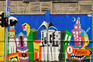 Painted streetscape - Zagreb by wildplaces