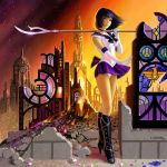 Pretty Soldier Sailor Saturn by AlanGutierrezArt