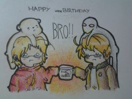 Happy coughlatecough birthday, bro!!! by Ask--Canada