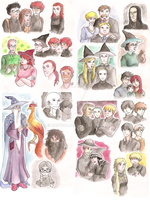 Harry Potter characters by haitchu
