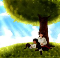 Resting  under a tree by FlopyLopez