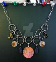 Deer Chainmail Steampunk Necklace by LyraAlluse