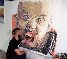 Early stage of a new big drawing by AtomiccircuS