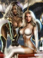 Emma Frost and Storm by icequeen654123