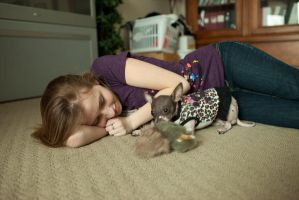 Teenage girl with puppy 3 by thisgirlhasissues