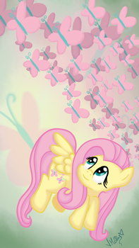 Fluttershy and Butterflies by vcm1824