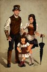 Rubicle Steampunk Family Portrait by ochie4