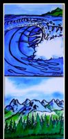 The Place the Mountain meet the sea by Markemarksk8