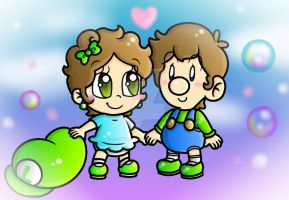 Baby Luigi and Baby Javi by CloTheMarioLover
